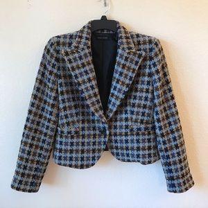 Valerie Stevens Wool Blend Blazer Jacket